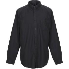 《期間限定セール開催中!》WRANGLER メンズ シャツ ブラック S コットン 100%