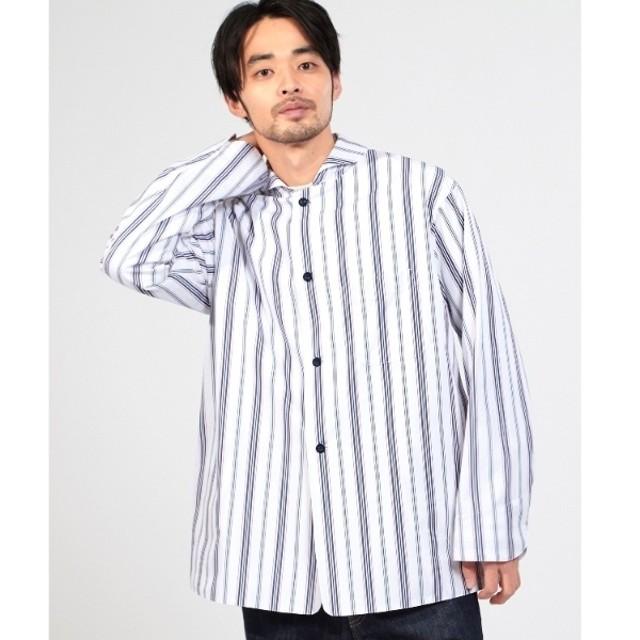 [マルイ]【セール】Mシャツ(ストライプラウンドカラーシャツ)/ドレステリア(メンズ)(DRESSTERIOR Mens)