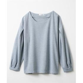 リップル袖タックトップス (Tシャツ・カットソー)(レディース)T-shirts