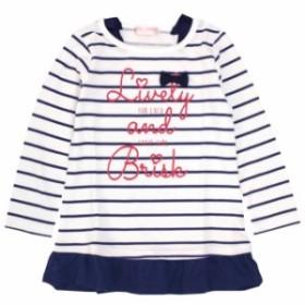 長袖 Tシャツ チュニック 子供 女の子 キッズ カジュアル ボーダー トップス 子供服 110cm 120cm 130cm