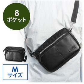 ミニショルダーバッグ 斜めがけ 合皮 タブレット収納 サコッシュ Mサイズ ブラック EZ2-BAG143BK ネコポス非対応