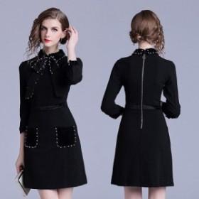 結婚式ドレス パーティードレス レトロチックな黒のタイトミニドレス a0604