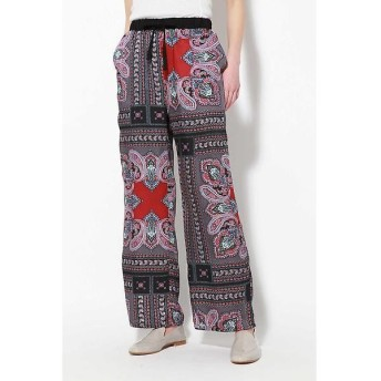 ROSE BUD / ローズ バッド スカーフ柄リラックスパンツ