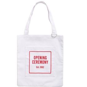 【オンワード】 OPENING CEREMONY WOMENS(オープニングセレモニー ウィメンズ) OC LOGO TOTE BAG / ロゴ トートバッグ ホワイト F レディース 【送料無料】