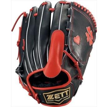 [ZETT]ゼット野球 軟式野球 投手用グラブ ネオステイタス (BRGB13911)(1964) ブラック/レツド[取寄商品]