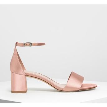 アンクルストラップ ヒールサンダル / Ankle Strap Heeled Sandals (Nude)