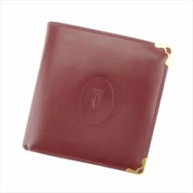 00bea99bb9c4 カルティエ Cartier 二つ折り 財布 財布 レディース メンズ マストライン美品 セール 【中古】