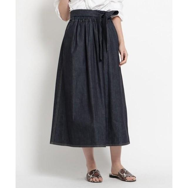 DRESSTERIOR / ドレステリア SOFIE D'HOORE(ソフィードール)バックスリットリボンデニムスカート