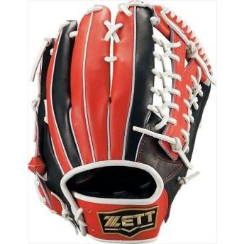 [ZETT]ゼット野球 軟式野球 外野手用グラブ ネオステイタス (BRGB13927)(1964) ブラック/レツド[取寄商品]