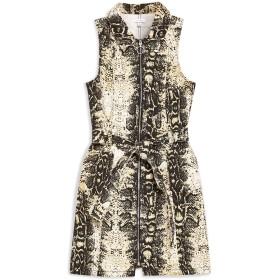《期間限定 セール開催中》TOPSHOP レディース ミニワンピース&ドレス サンド 6 コットン 100% SNAKE DENIM DRESS WITH COLLAR