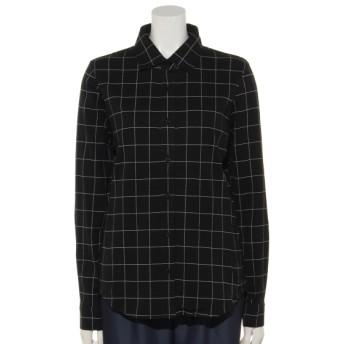 74%OFF MALIANI (マリアーニ) 【Rejoove】ウインドペンチェックのカットソーシャツ ブラック