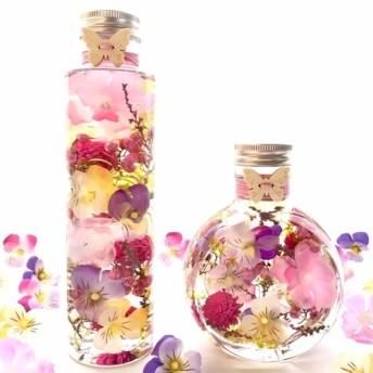 母の日 ギフト『春の訪れ』『ビオラと桜のハーバリウム』選べる2タイプ Mサイズ