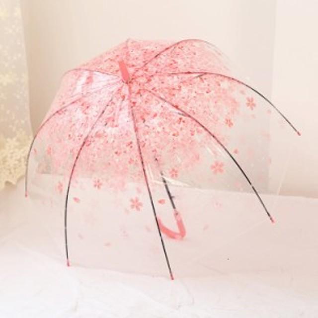 透明ビニール傘 桜 レディース