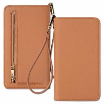 レディース 長財布 スキミング防止 ストラップ 可愛い puレザー 5.5インチ~6.0インチ スマホが入れる