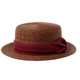 CONTROL FREAK × Ray BEAMS / 別注 ラフ巻き カンカン帽 レディース ハット BROWN ONE SIZE