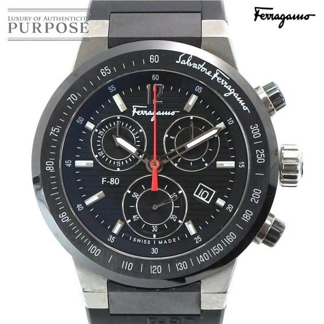 1ee2f663ea サルヴァトーレ フェラガモ Salvatore Ferragamo F55 F-80 クロノグラフ デイト メンズ 腕時計 デイト ウォッチ