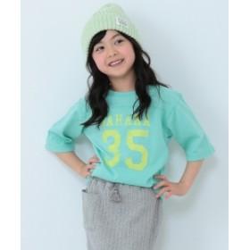 BEAMS mini / ベースボール7分袖Tシャツ(90~150cm) キッズ Tシャツ MINT. GRN 120