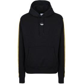 《期間限定 セール開催中》ADIDAS ORIGINALS メンズ スウェットシャツ ブラック L コットン 100% FT BBALL HOODY