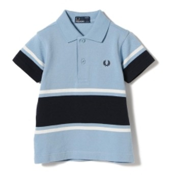 FRED PERRY / Bold Fine Stripe ポロシャツ 9 (2~9才) キッズ ポロシャツ 444SKY 2-3y