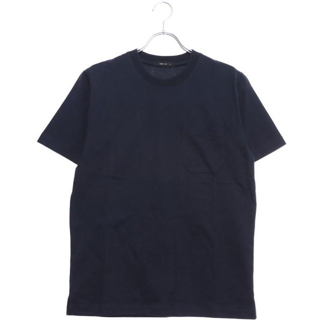 コムサイズム COMME CA ISM <汗染み防止加工> ポケット付 Tシャツ (ネイビー)