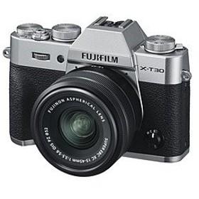 フジフイルム FUJIFILM X-T30【XC15-45mmレンズキット】(シルバー/ミラーレス一眼カメラ)