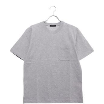 コムサイズム COMME CA ISM <汗染み防止加工> ポケット付 Tシャツ (グレー)