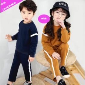 2018春子供服韓国風/スウェット/セットアップ/おしゃれ/シンプルスウェット ジャージ 2点セット女の子ユニクス ジュニア 運動ジャージ