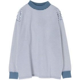 【6,000円(税込)以上のお買物で全国送料無料。】mens エシカルモックネックロングTシャツ