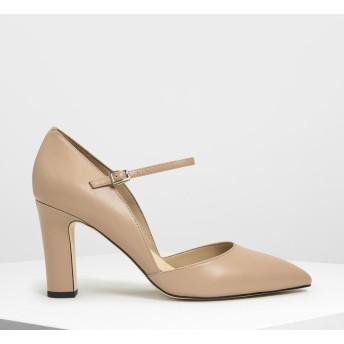 ドルセイ メリージェーンヒール / D'orsay Mary Jane Heels (Camel)