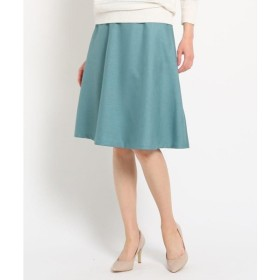 SunaUna  淡色カラーフレアスカート