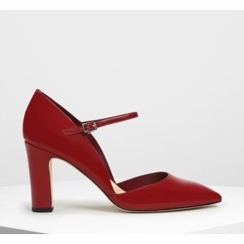 ドルセイ メリージェーンヒール / D'orsay Mary Jane Heels (Red)