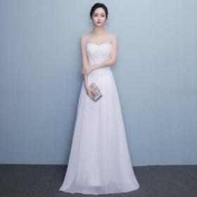 パーティードレス 結婚式 二次会 ワンピース 結婚式ドレス お呼ばれワンピース 30代 40代 袖あり レース 花柄 刺繍 シフォン a0764