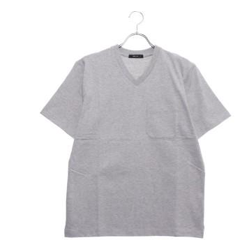 コムサイズム COMME CA ISM <汗染み防止加工> Vネック Tシャツ (グレー)