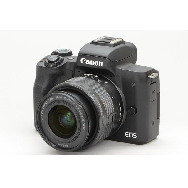 [中古] Canon EOS Kiss M ダブルズームキット ブラック 2682C003