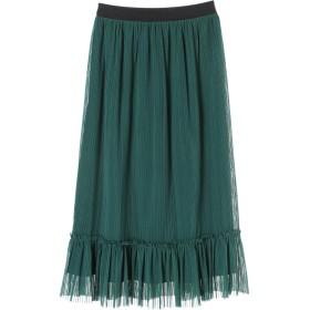 【5,000円以上お買物で送料無料】FURRYRATE チュールギャザーヘム切替スカート