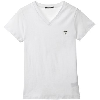 Tシャツ - GUESS【WOMEN】 [GUESS] LOGO MINI PATCH V-NECK TEE
