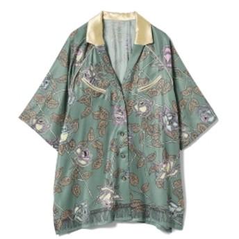 THE Dallas / フラワー シャツ● レディース カジュアルシャツ GREEN ONE SIZE