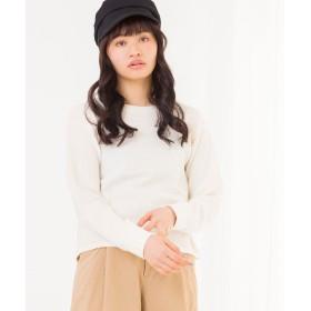 Tシャツ - WEGO【WOMEN】 デイリーUネックワッフルTシャツ BS18SP02-L027
