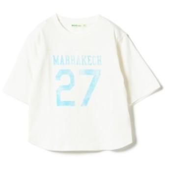 BEAMS mini ベースボール7分袖Tシャツ