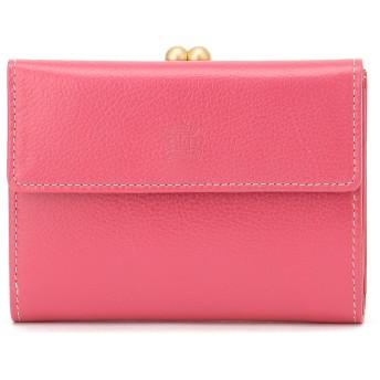 Eletha 【Eletha/エレザ】エレザ ベーシック 口金二つ折り財布 財布,ピンク