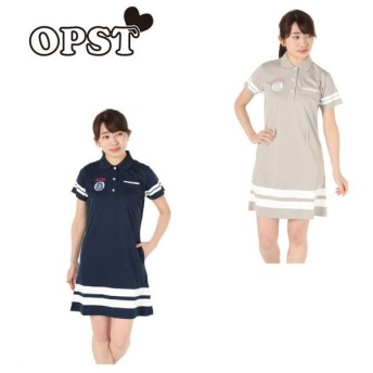 オプスト OPST ゴルフウェア ワンピース レディース ラインシャツ OP220312I02