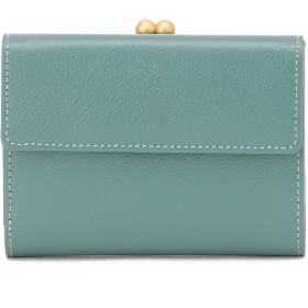 Eletha 【Eletha/エレザ】エレザ ベーシック 口金二つ折り財布 財布,スカイ