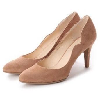 アンタイトル シューズ UNTITLED shoes フラワーカットパンプス (ベージュスエード)