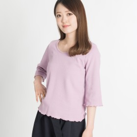 Tシャツ - WEGO【WOMEN】 Uネックフィットサーマルカットソー DI18SP03-L003