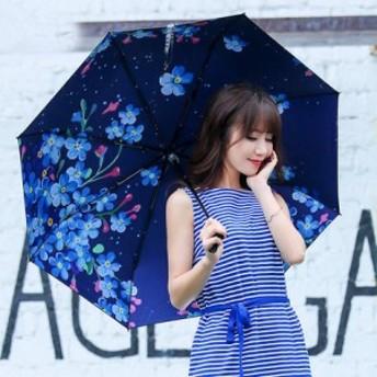 晴雨兼用傘 雨傘 手開き 日傘 レディース 折りたたみ 三つ折 かさ コスプレ 花柄 和傘 雨具 撥水 通学 通勤 雨対策 花