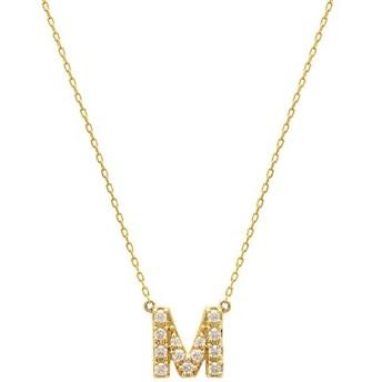 [マルイ] 【WEB限定】K10 イエローゴールド ダイヤモンド イニシャル ネックレス(M)/エステール(ESTELLE)