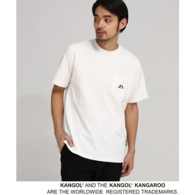 BASE STATION / ベースステーション KANGOL カンゴール 別注 コラボ Tシャツ メンズ ポケット 半袖Tシャツ