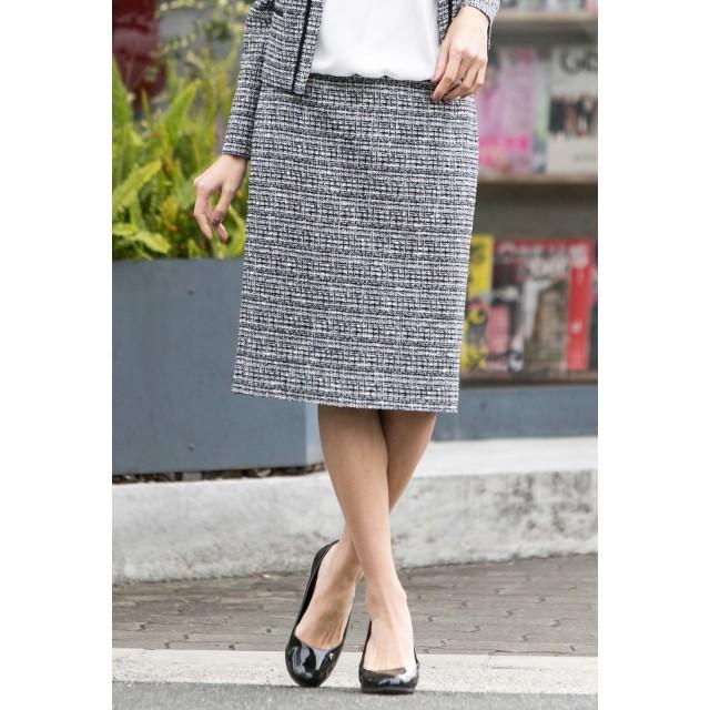 LAUTREAMONT ロートレアモン 尾州産地で作ったロートレアモンオリジナルのファンシーツイードスカート その他 スカート,ダークネイビー