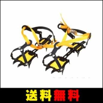 【送料無料】 10本爪 アイゼン 専用ケース付 スキーガイド・雪山登山・ トレッキング フィット感に優れたベルト式