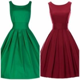 ワンピースドレス ワンピース ドレス 結婚式ドレス 一際目を引く レトロガーリーAラインワンピースドレス ワンピース ドレスドレス a0158
